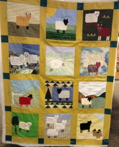 Does anyone recognise any of the blockes in this sheep quilt did you make one or do you know who did